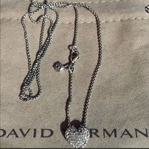 David Yurman Signet Diamond Heart W 18inch Chain